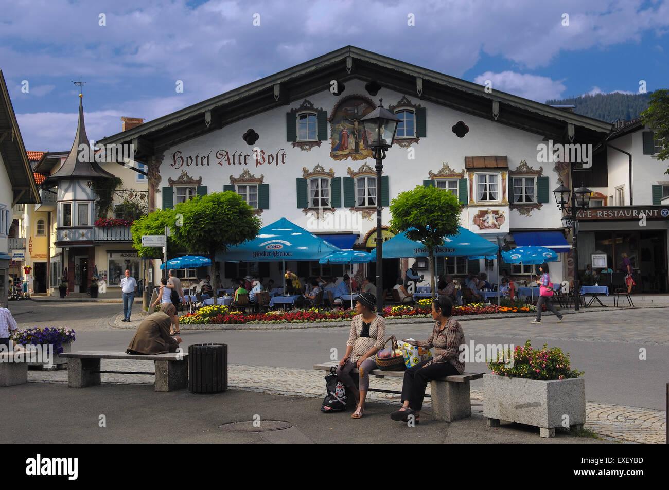 Hotel At Oberammergau Stockfotos Amp Hotel At Oberammergau