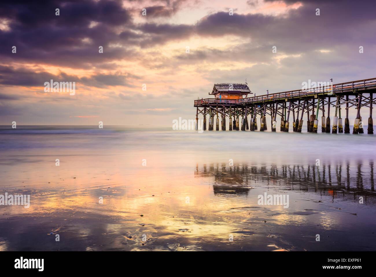 Cocoa Beach, Florida, USA am Pier. Stockbild