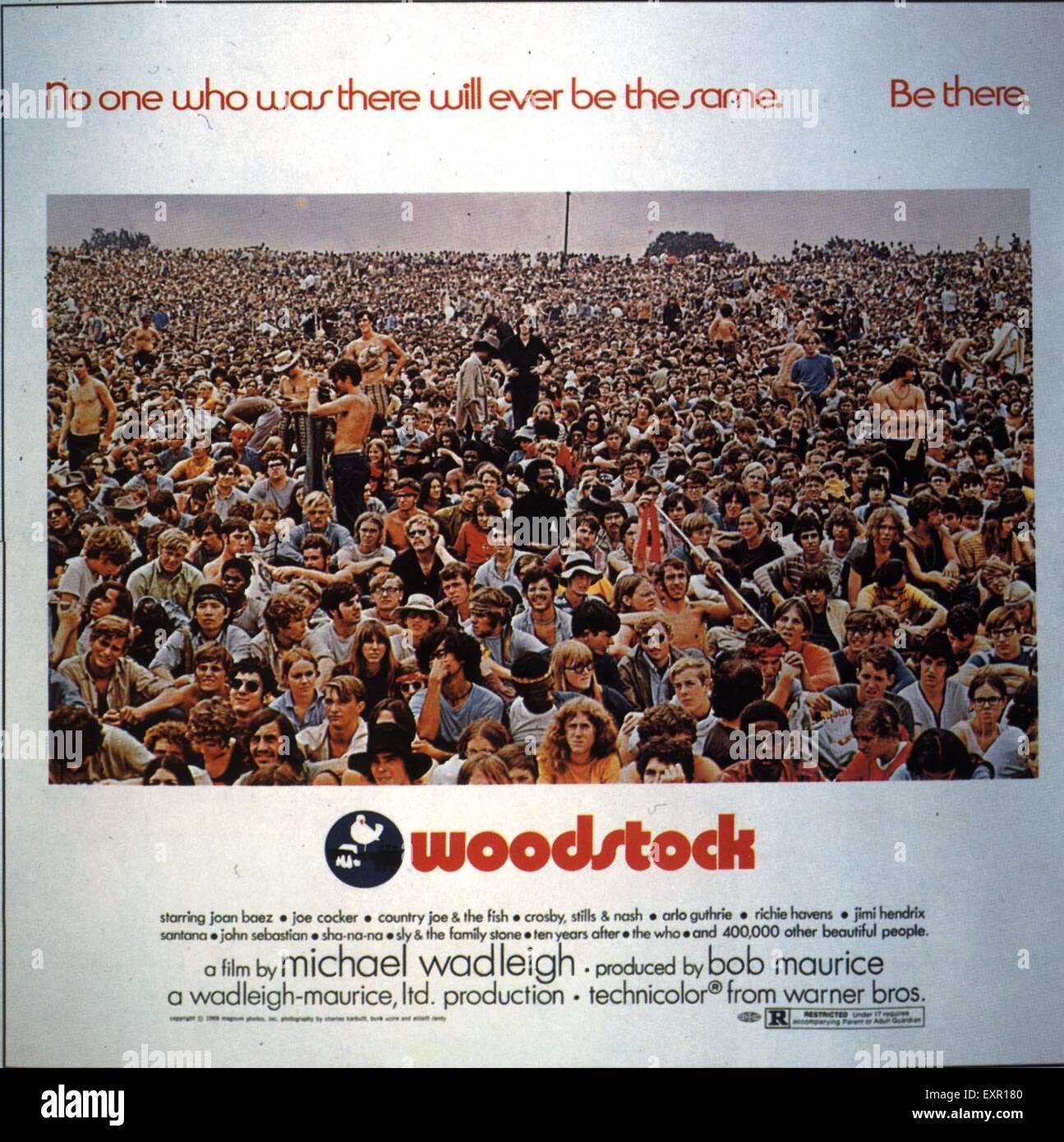 1970er Jahren USA Woodstock Filmposter Stockbild