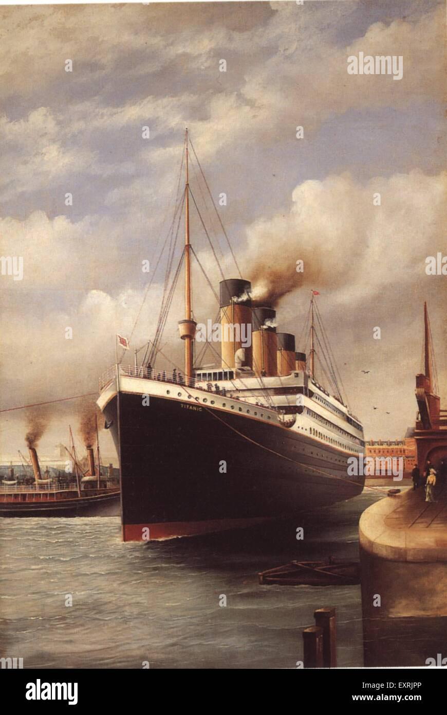 1910er Jahre UK die Titanic Magazin Platte Stockbild