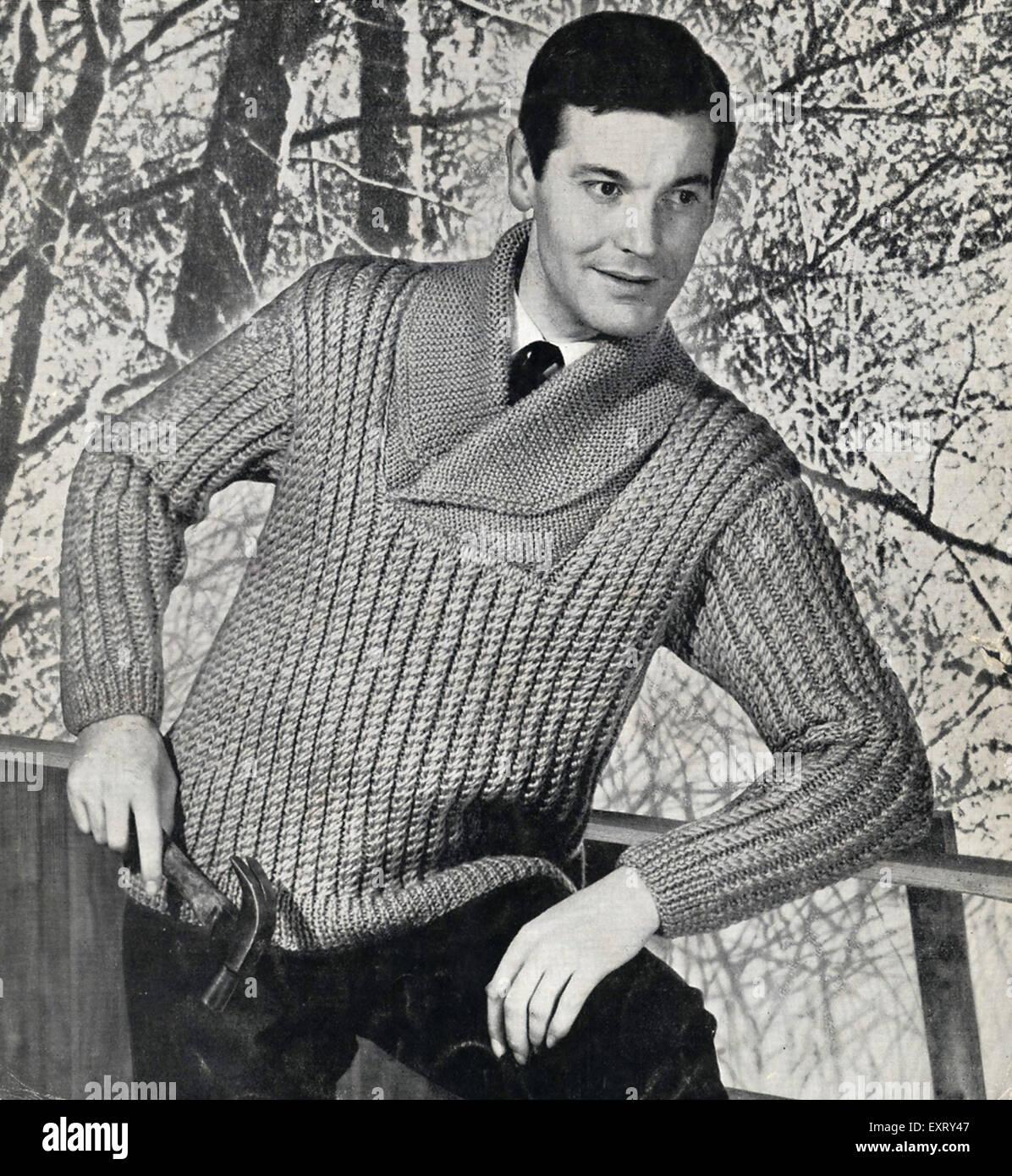 1950er Jahre UK Copley Strickmuster Stockbild