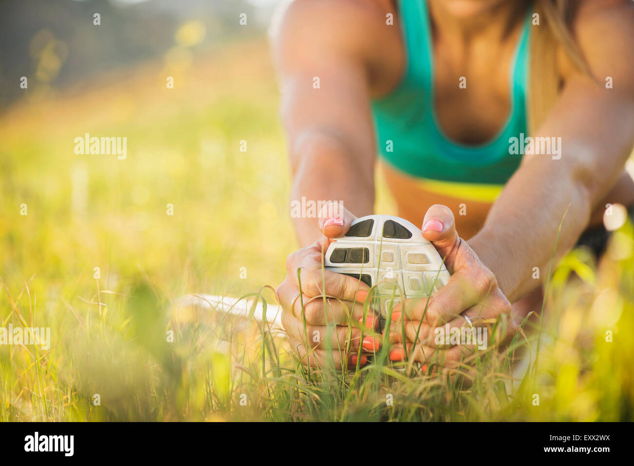 Frau im Bereich Sport Stockbild