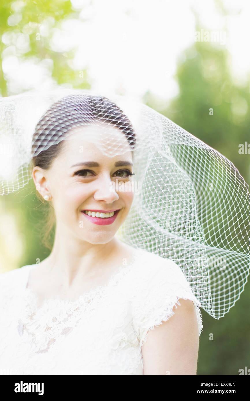 Porträt von lächelnden Braut Stockbild
