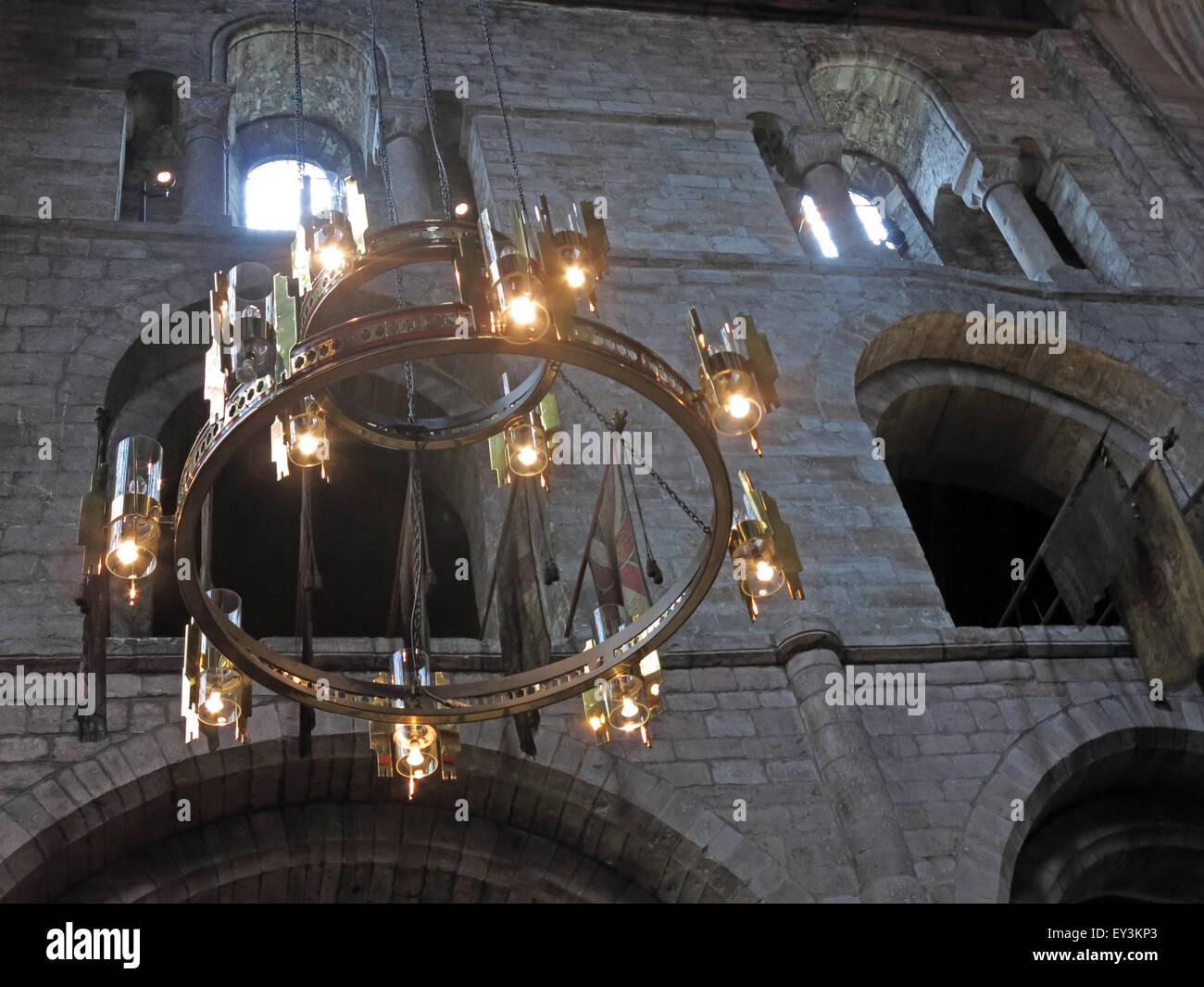 Laden Sie dieses Alamy Stockfoto Lichter bei Carlisle Kathedrale, Cumbria, England, UK - EY3KP3