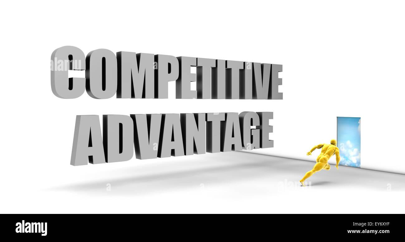 Wettbewerbsvorteil als direkte Express Pfad auf der Überholspur Stockbild