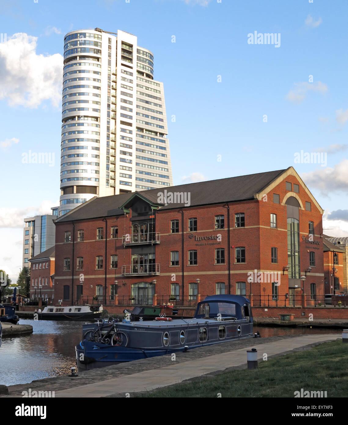 Laden Sie dieses Alamy Stockfoto Leeds Wharf Lock, Innenstadt, West Yorkshire, England, Vereinigtes Königreich (Leeds / Liverpool Canal) - EY7XF3