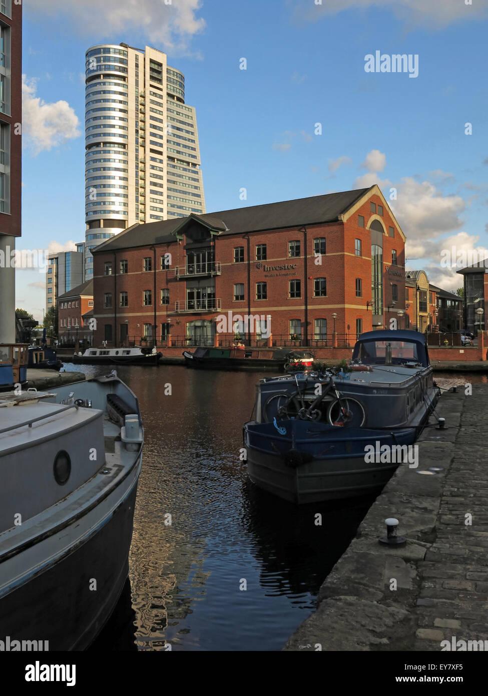 Laden Sie dieses Alamy Stockfoto Leeds Wharf Lock, Innenstadt, West Yorkshire, England, Vereinigtes Königreich (Leeds / Liverpool Canal) - EY7XF5