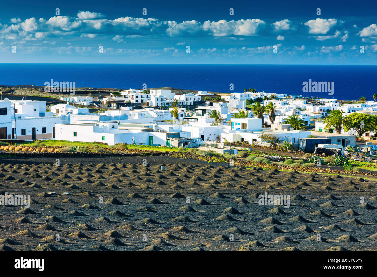 Tinajo. Lanzarote, Kanarische Inseln, Spanien, Europa. Stockbild