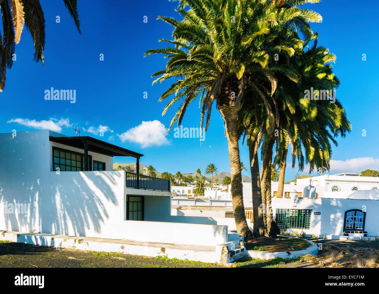 Haria Dorf. Lanzarote, Kanarische Inseln, Spanien, Europa. Stockfoto