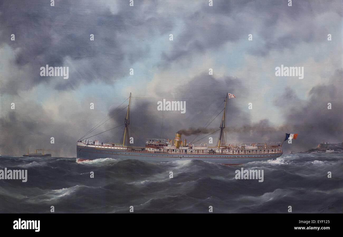 Paraguay-Liner (1888-1909) 12.07.2013 - Sammlung des 20. Jahrhunderts Stockbild