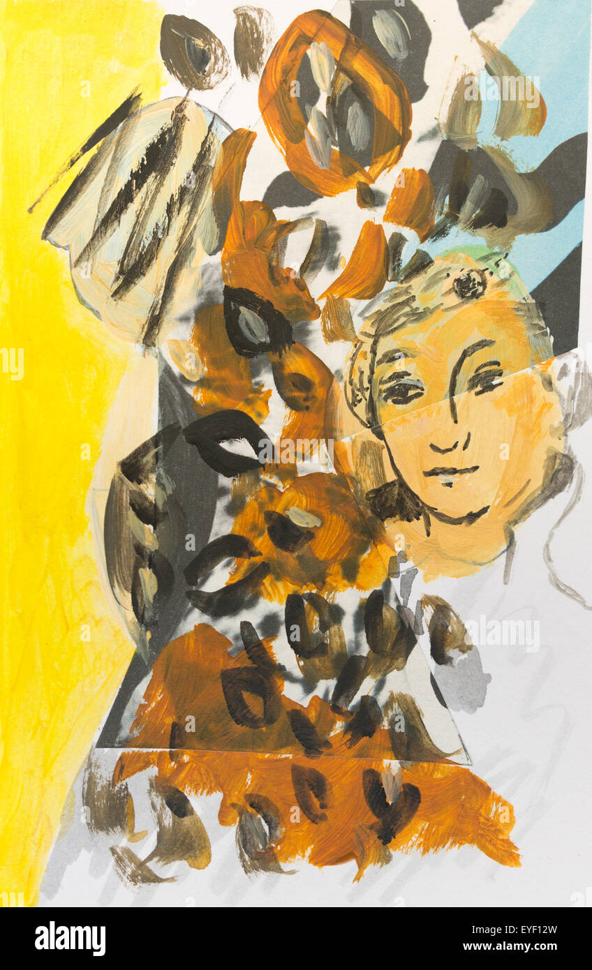 """Von 'Portrait einer adeligen Dame von Saxon""""Cranach 29.05.2015 - 21. Jahrhundert Noizet-Faucon Stockbild"""