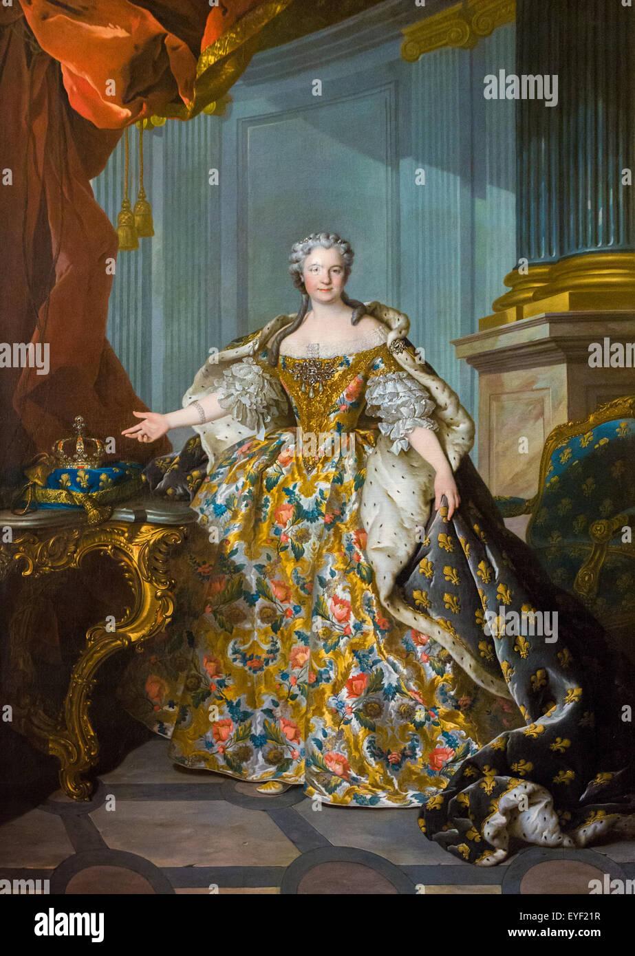 Marie Leczinska 12.10.2013 - Sammlung des 18. Jahrhunderts Stockbild