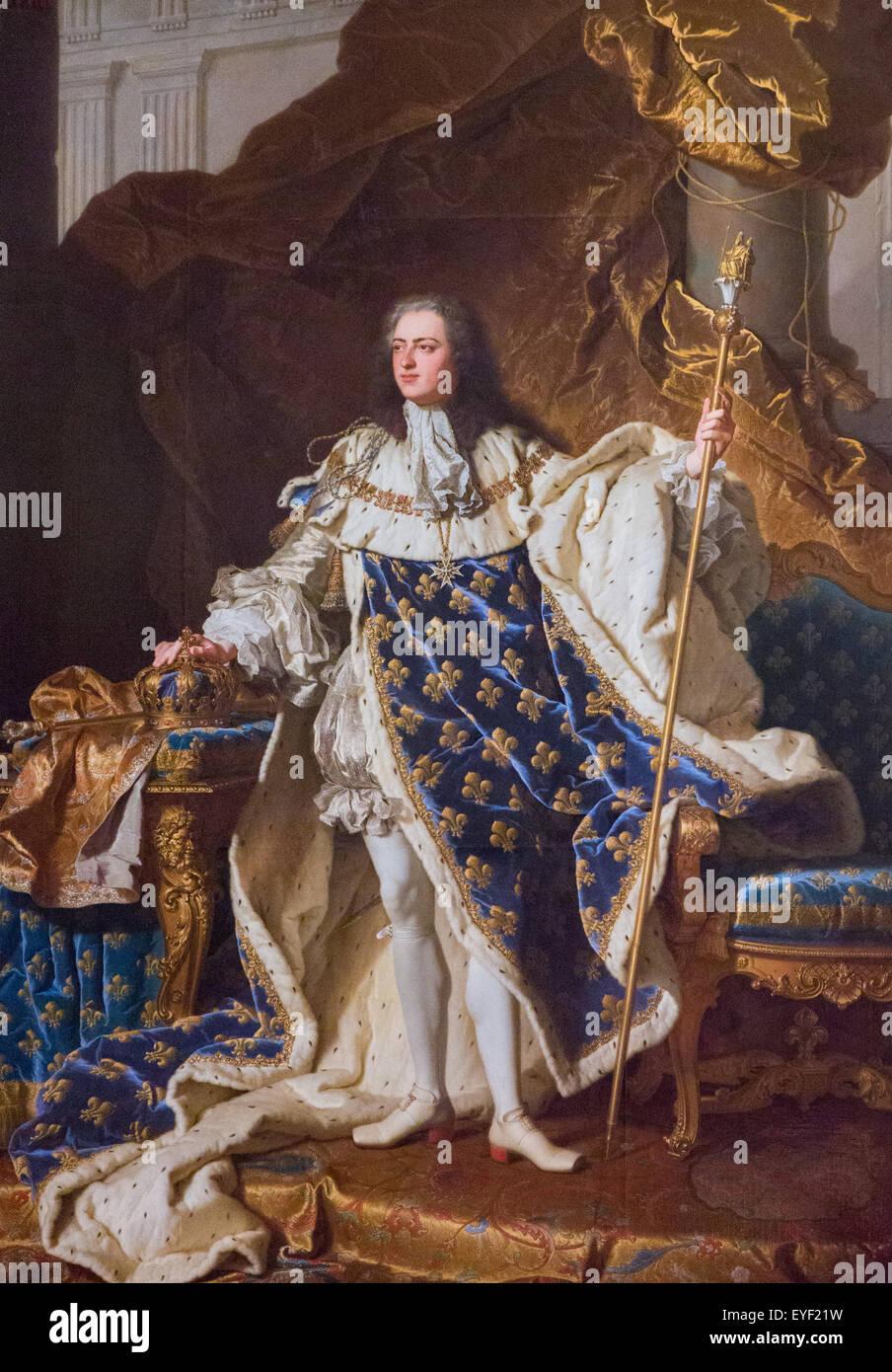 Louis XV (1710 ? 1774), französische König 12.10.2013 - Sammlung des 18. Jahrhunderts Stockbild