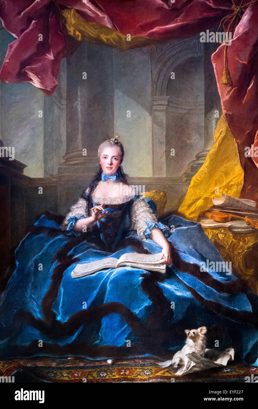 Frau Adelaide Solfiant 12.10.2013 - Sammlung des 18. Jahrhunderts Stockbild