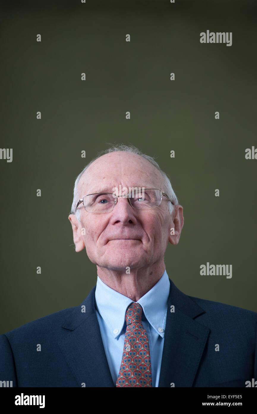 Britischer Literaturkritiker, John Carey, erscheinen auf dem Edinburgh International Book Festival. Stockbild