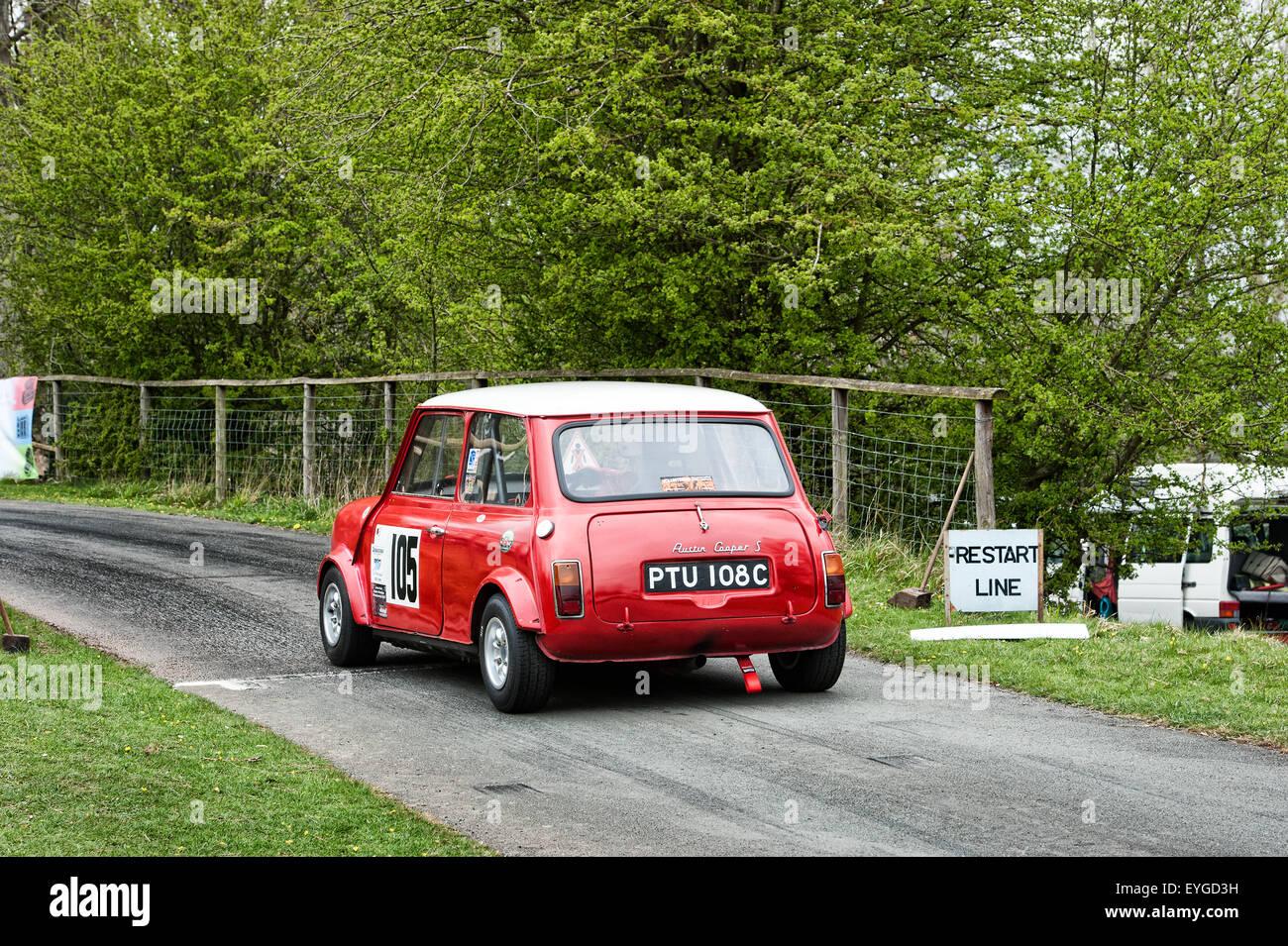 Austin Mini Cooper S Hillclimb Motorsport Stockbild