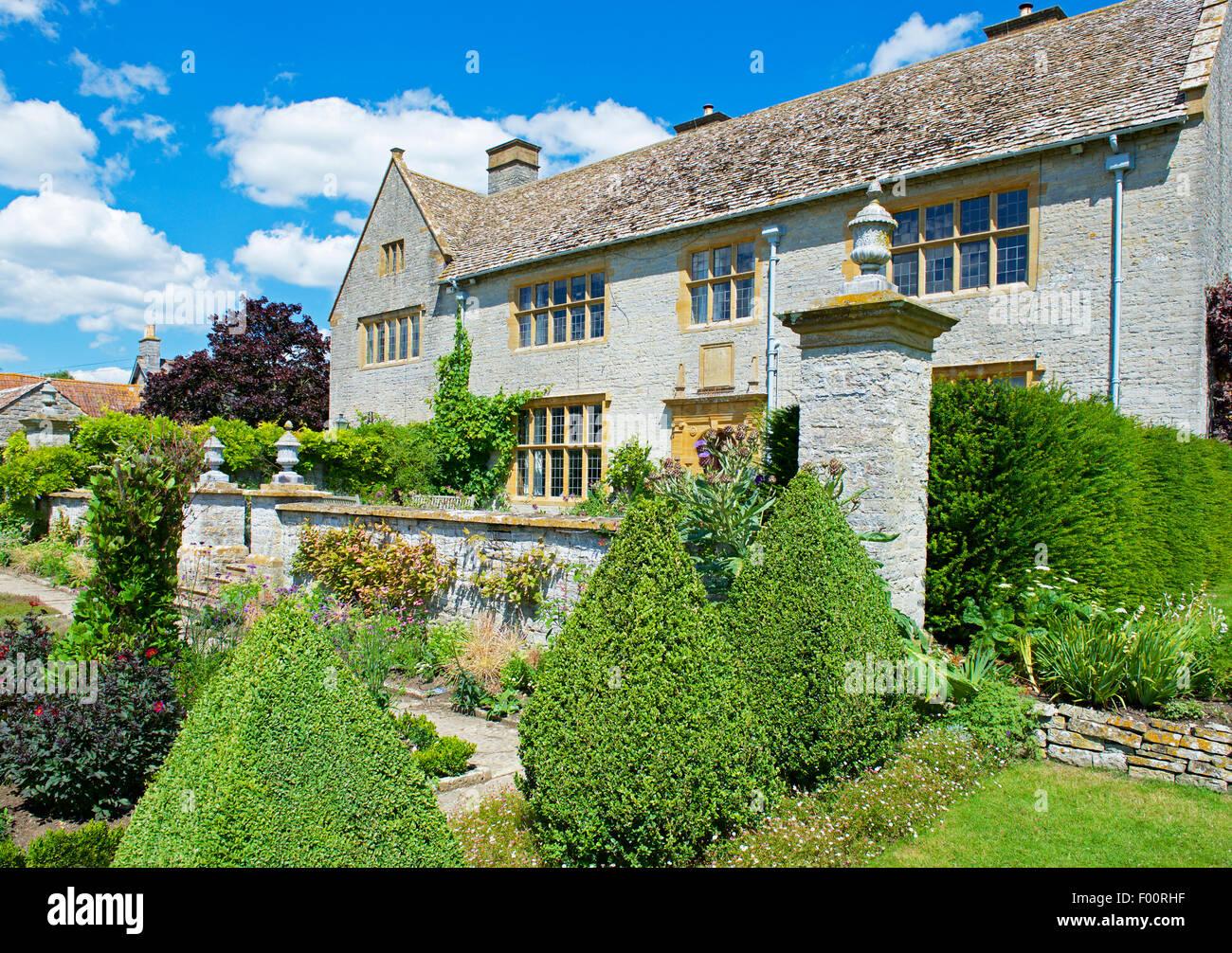 Die Gärten von Metalle Carey Manor, in der Nähe von Somerton, Somerset, England UK Stockbild