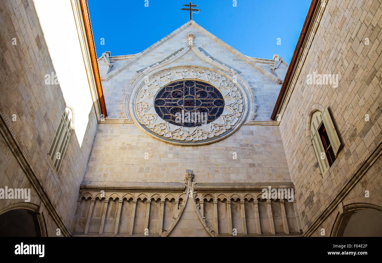 Israel, Jerusalem, die Kathedrale des Lateinischen Patriarchats Stockbild