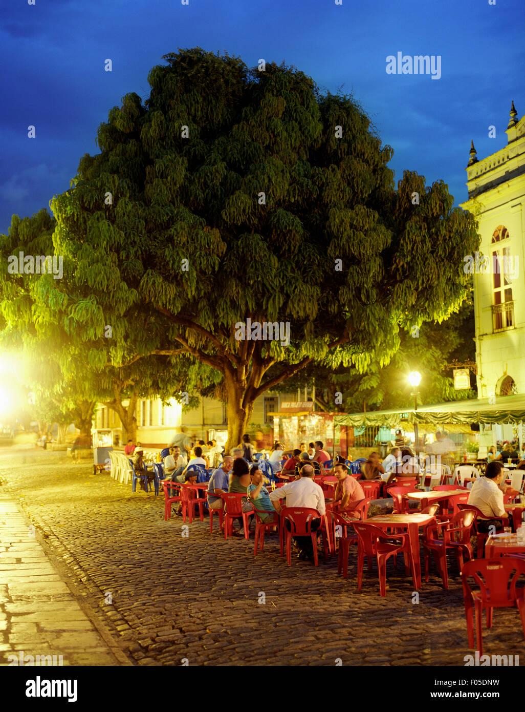 Eine Innenansicht des Restaurante Antigamente.  Sao Luis, Brasilien Stockbild