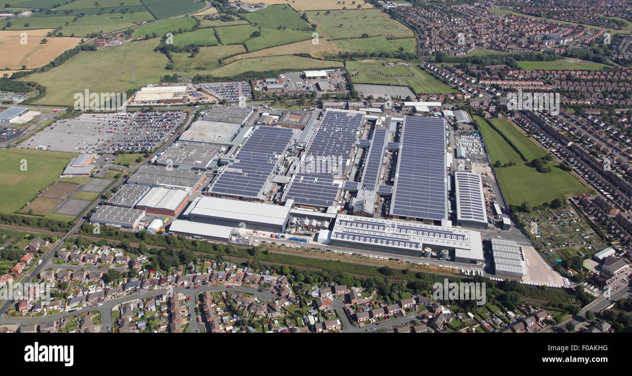 Luftaufnahme der Bentley Motors Luxus Auto Produktionsfabrik in Crewe, Cheshire, UK Stockbild