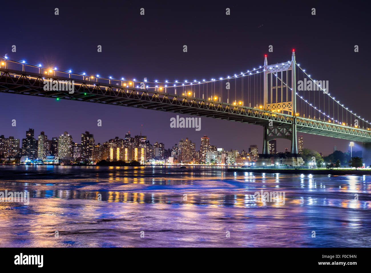 Ed Koch Queensboro Bridge in New York City mit Blick auf Manhattan Stockbild
