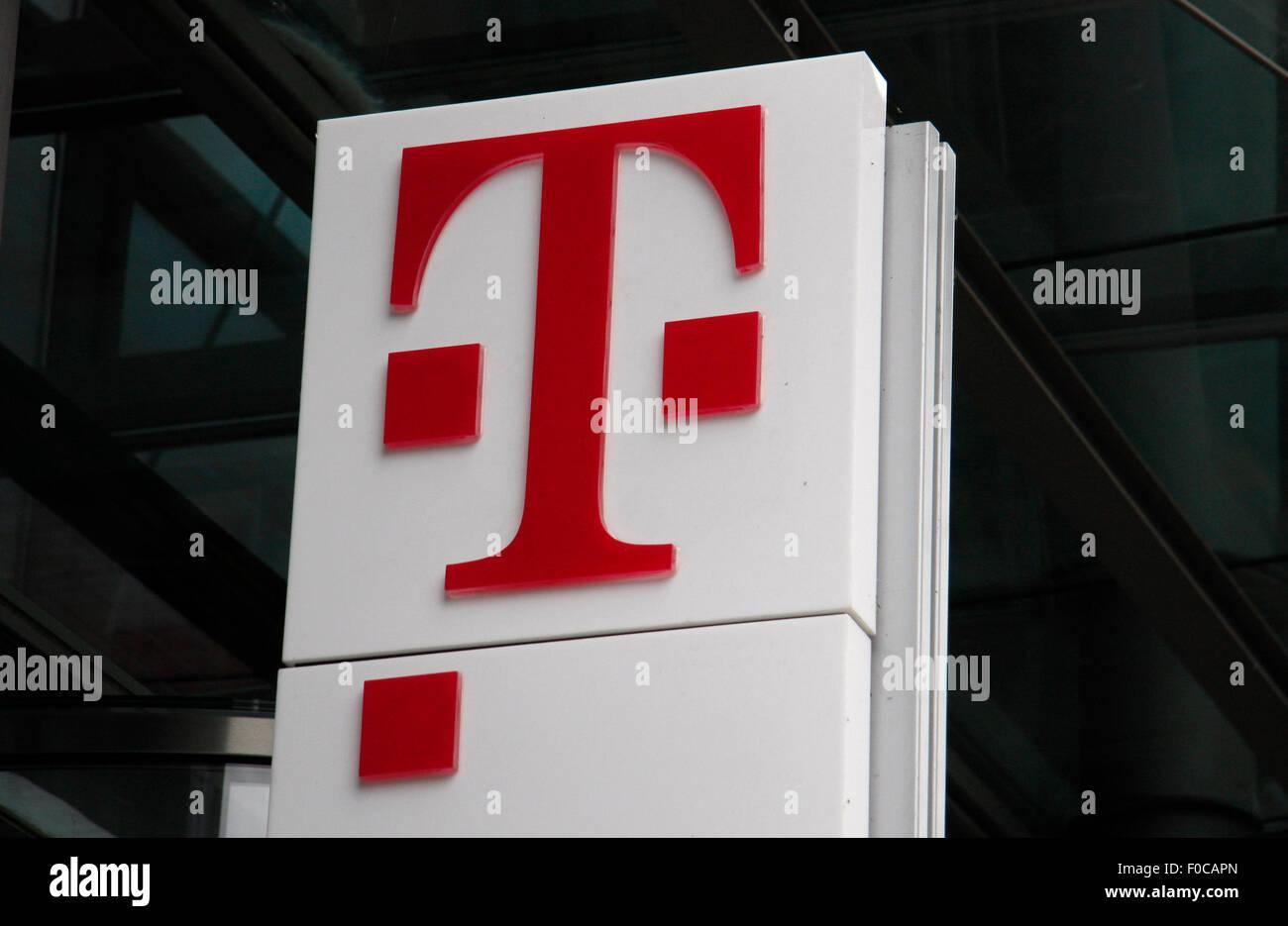 Logo der Deutschen Telekom. Stockbild