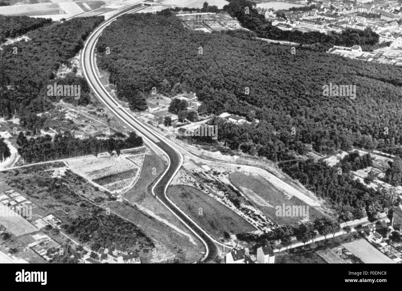 Deutsche motor Autobahn, ca. 1935 Stockbild