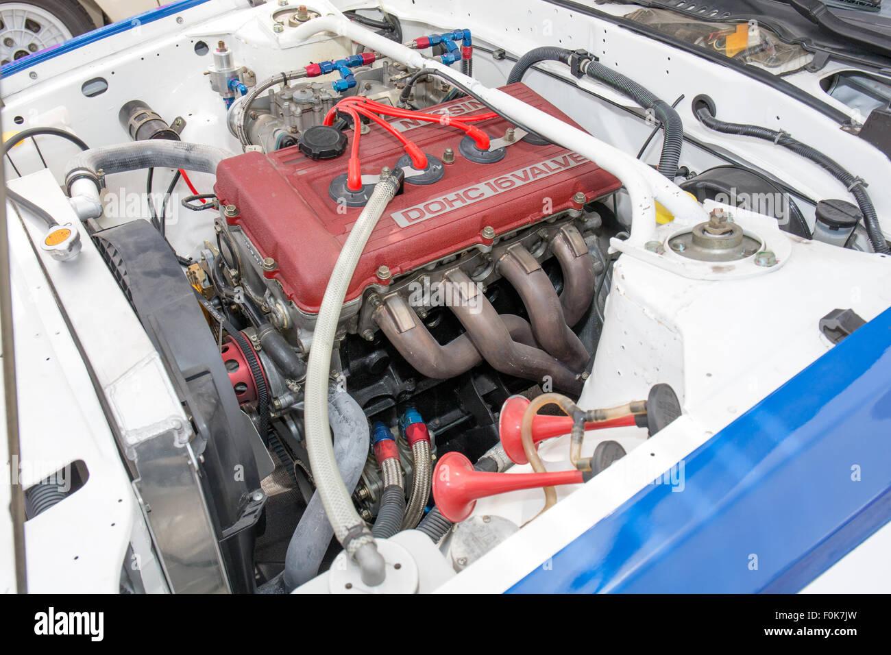Nissan FJ24 Motor auf 240 RS 2 2015 Motorsport Japan Stockbild