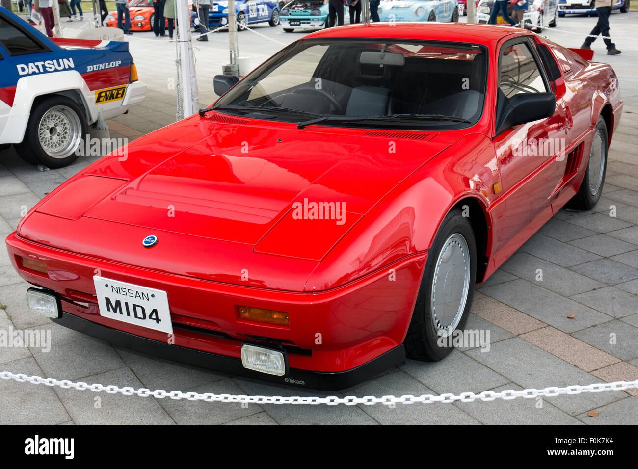 Nissan MID4 vorne links 2015 Motorsport Japan Stockbild