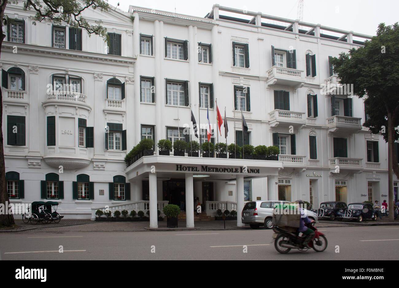 Hotel Metropole Hanoi Stockbild