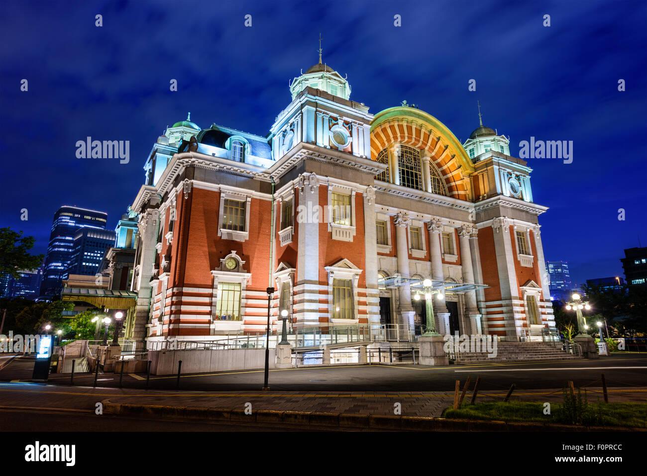 Osaka, Japan in Osaka Central Public Hall aus dem Jahr 1918. Stockbild