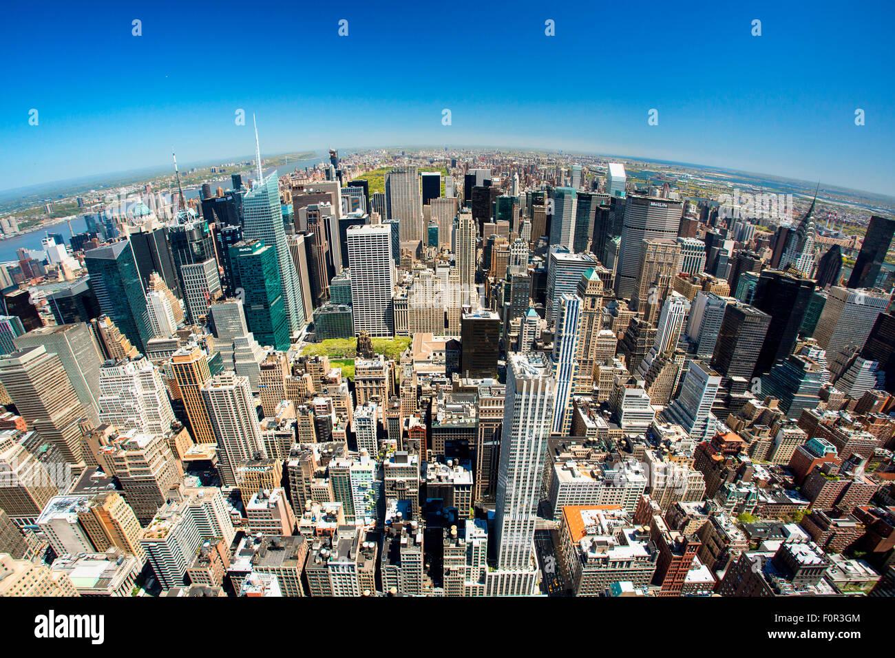 Skyline von New York City Stockbild