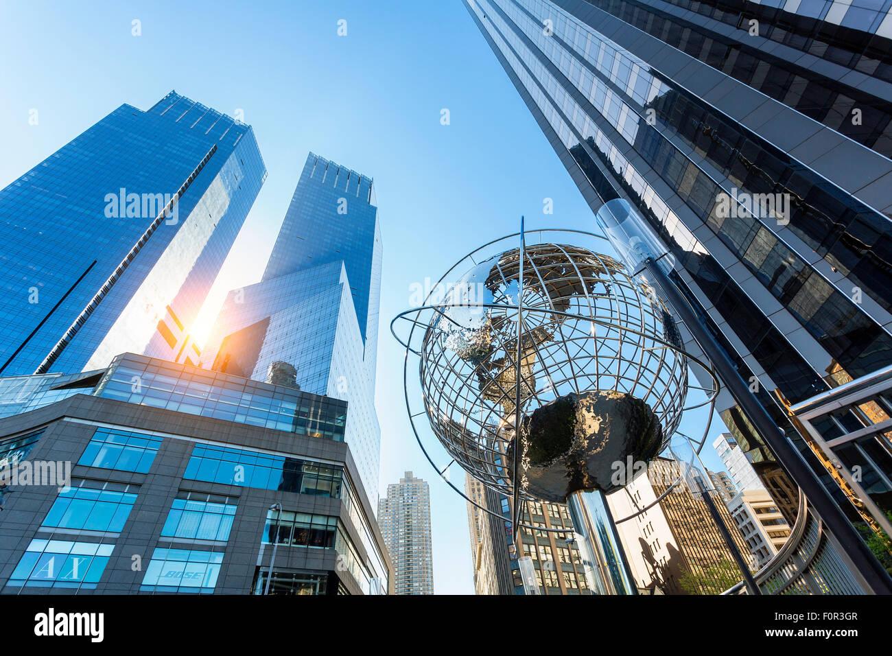 Columbus Circle, Time Warner Center, New York City Stockbild