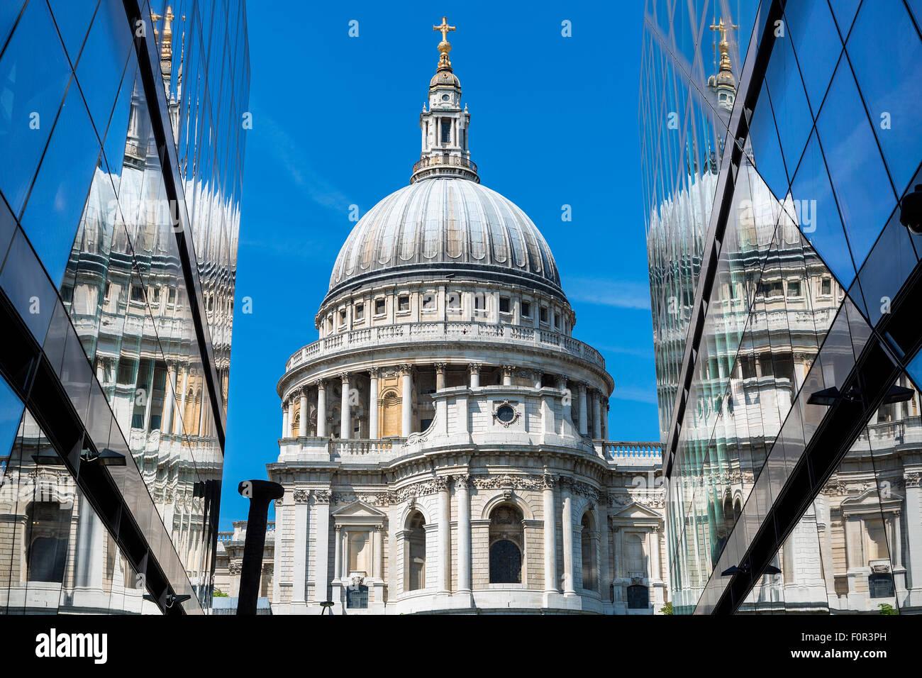 England, London, St. Pauls Cathedral Stockbild
