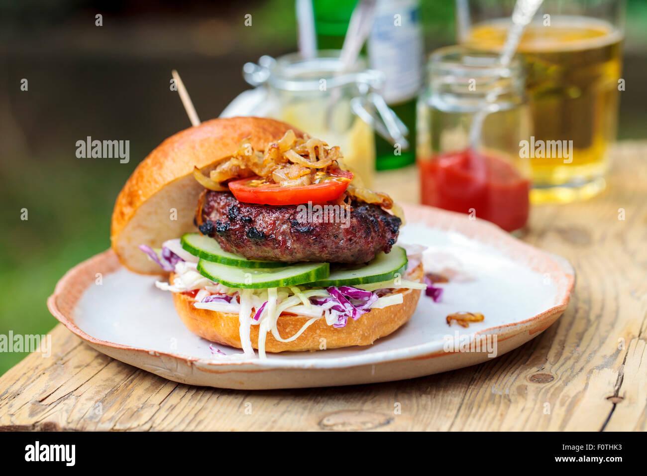 Gourmet-burger Stockbild
