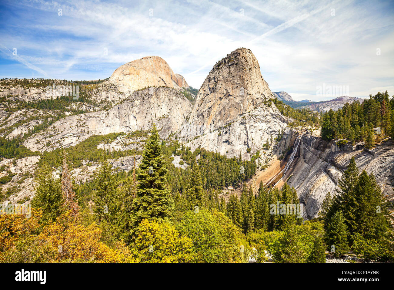 Nevada Fall im Yosemite Nationalpark, Kalifornien, USA. Stockbild