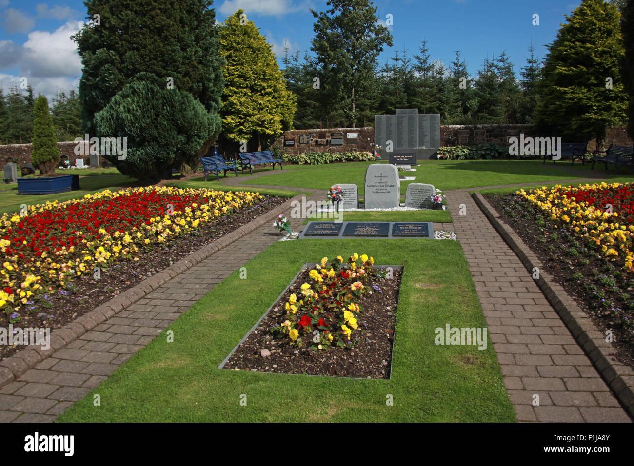 Laden Sie dieses Alamy Stockfoto Lockerbie PanAm103 In Erinnerung Memorial, Schottland - F1JA8Y
