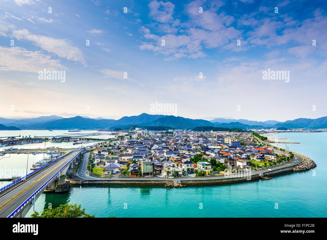 Senzaki, Nagato, Blick auf die Stadt Yamaguchi Japan. Stockbild