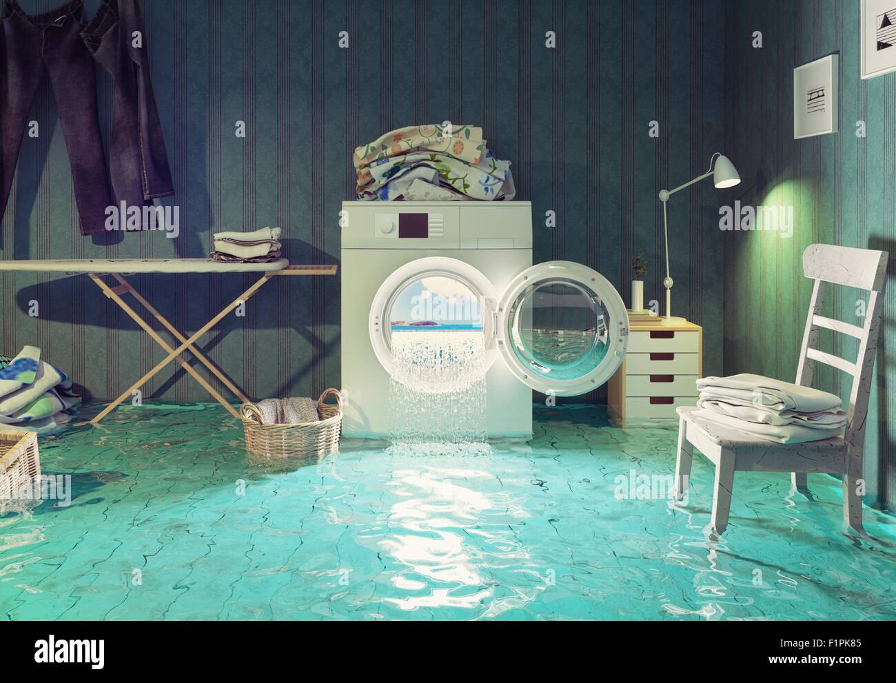 Hausarbeit Träume. 3D Kreativkonzept. Stockbild