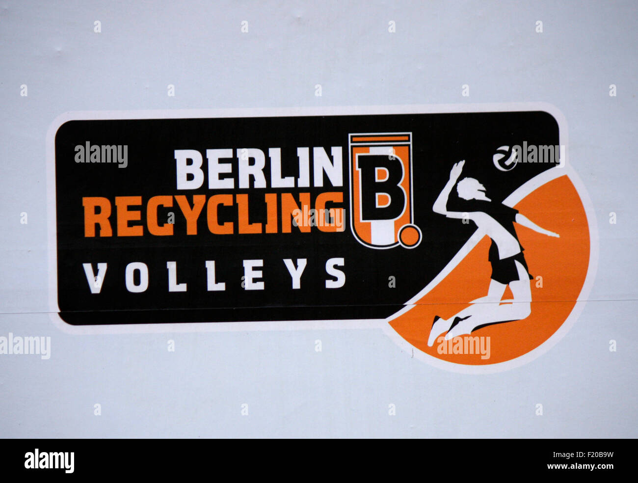 "Markenname: ""Berlin Recycling Volleys"", Berlin. Stockbild"