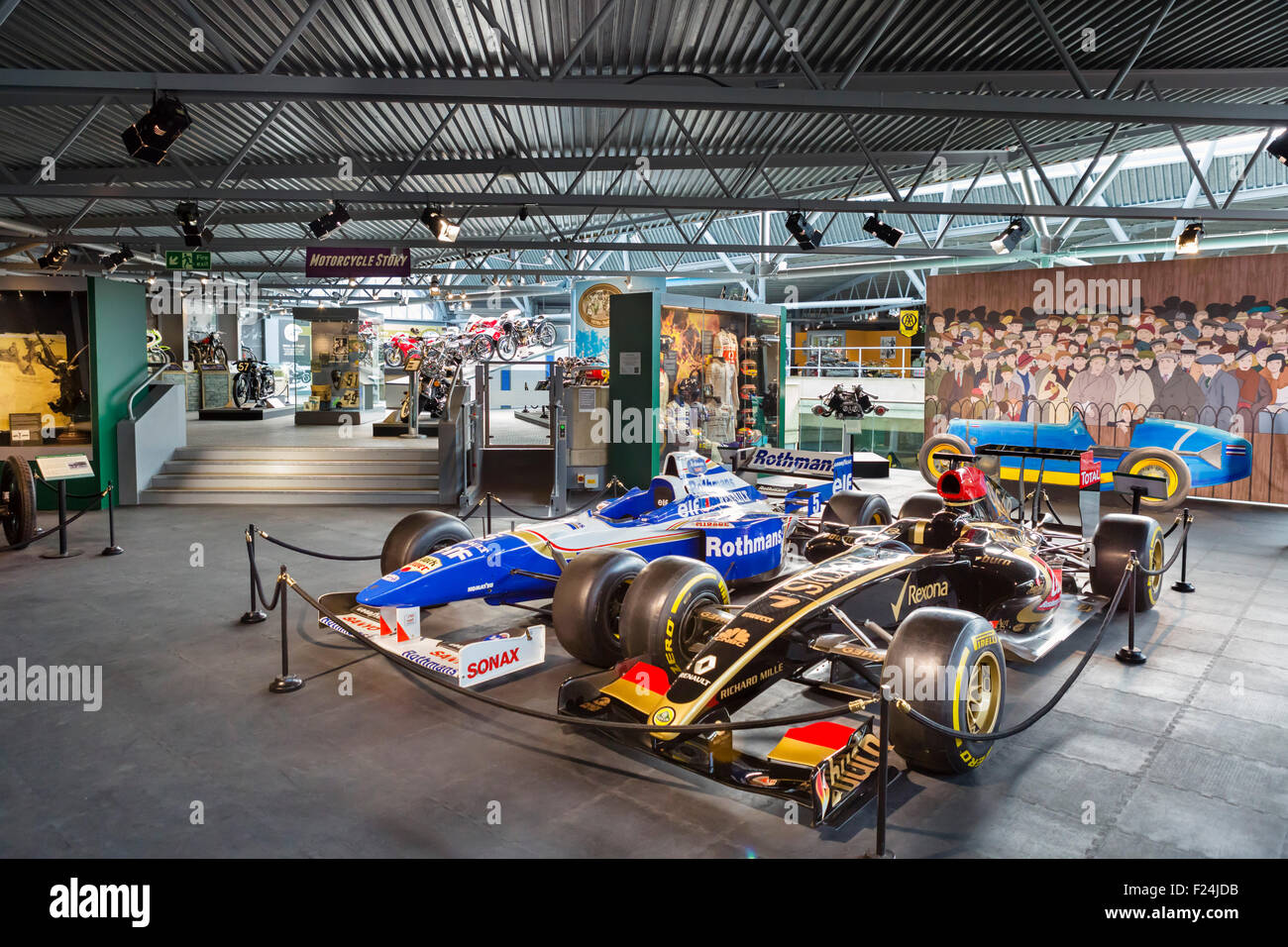 Formel 1-Rennwagen auf dem Display an das National Motor Museum in Beaulieu, Hampshire, England UK Stockbild