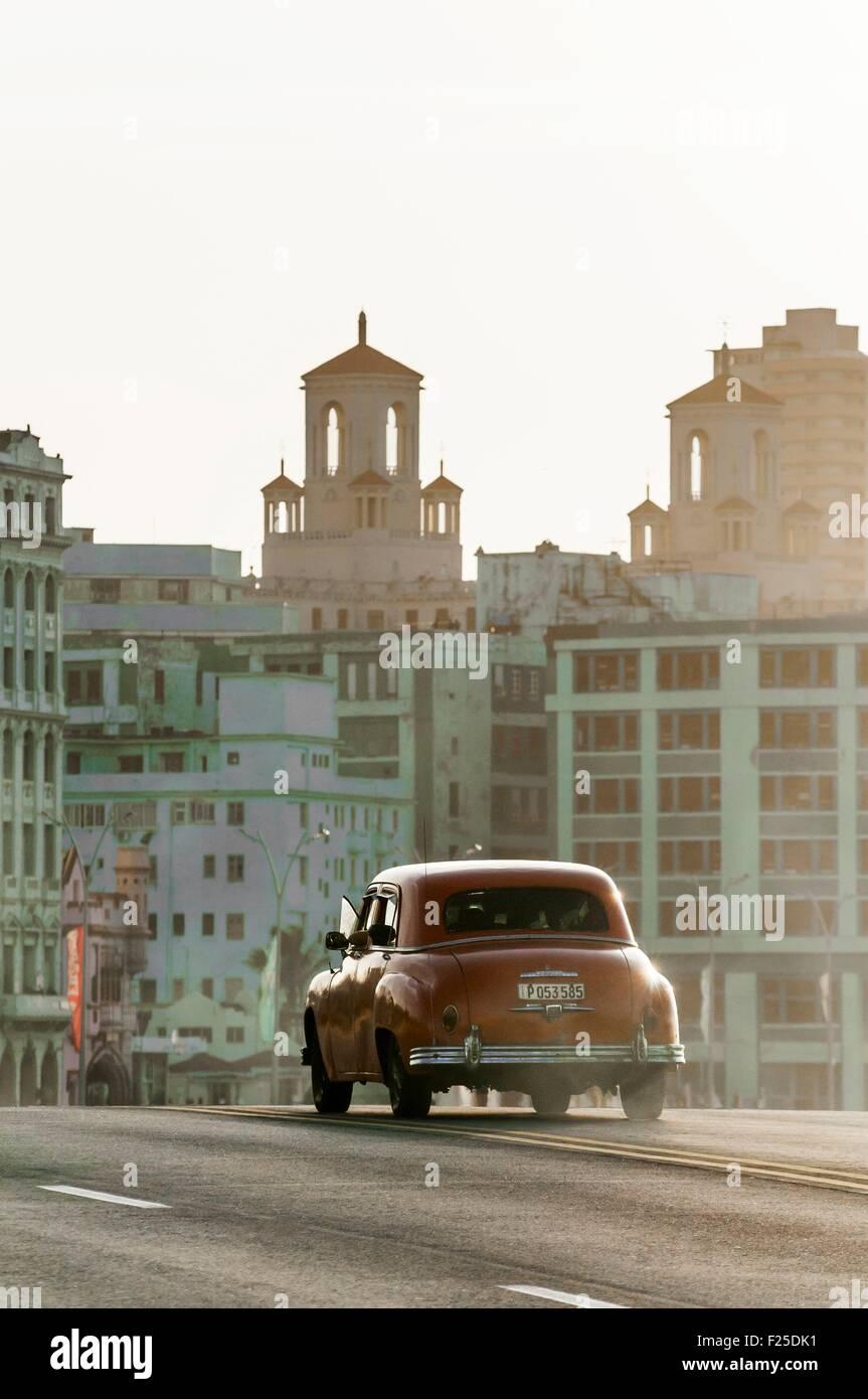 Kuba, Havanna, Malecon Habana Centro Bezirk Stockbild