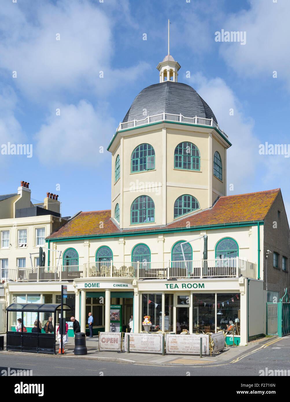 Kuppelkino Grade aufgeführten II Gebäude in Worthing, West Sussex, England, UK. Stockbild