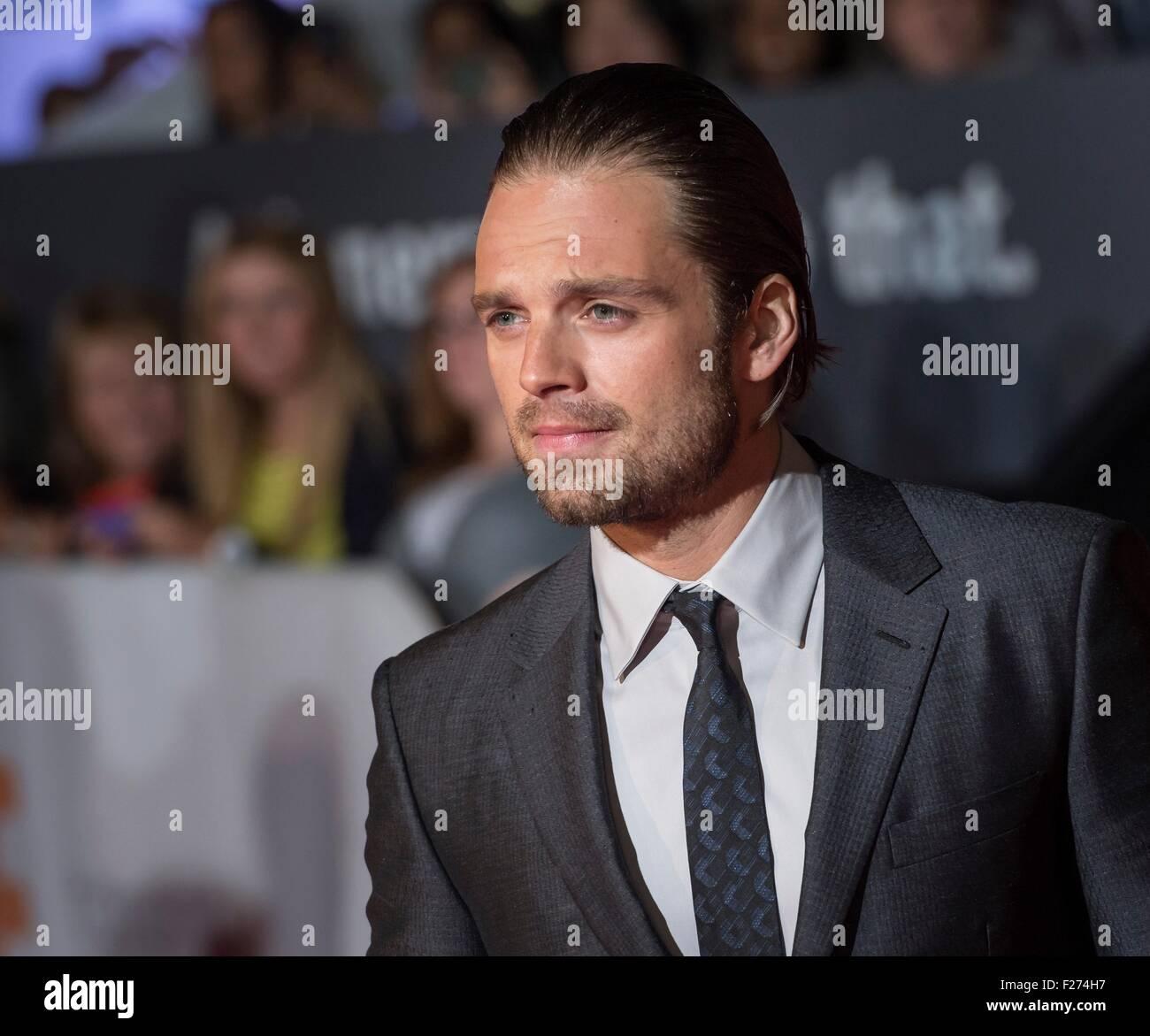 Schauspieler Sebastian Stan besucht die Weltpremiere für The Martian auf dem Toronto International Film Festival Stockbild