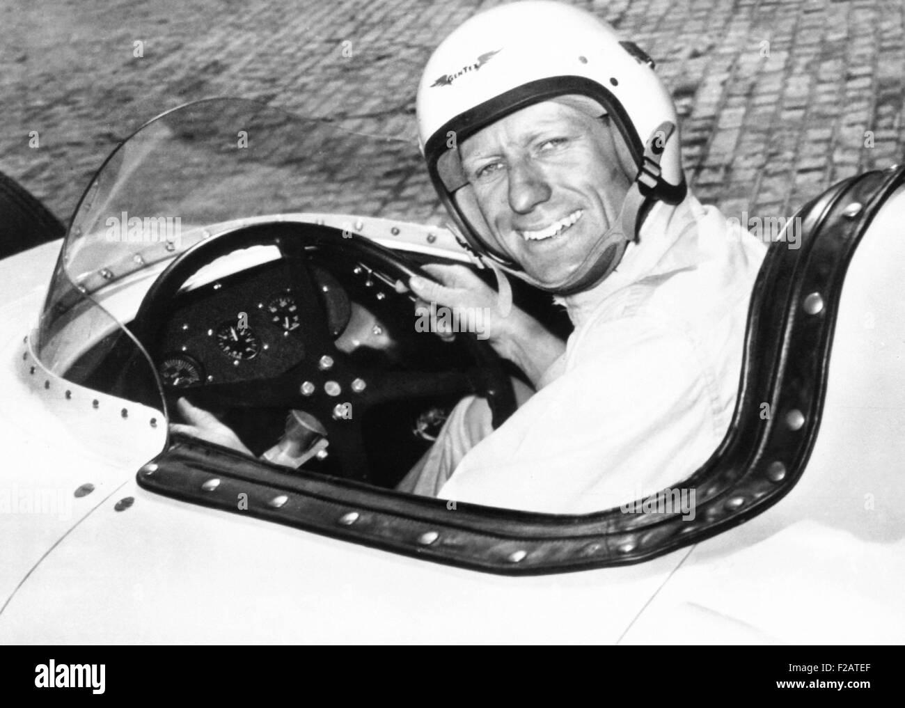 Jack McGrath war der schnellste Qualifikationsrunde für die 1955 500 Meilen von Indianapolis. Während Stockbild