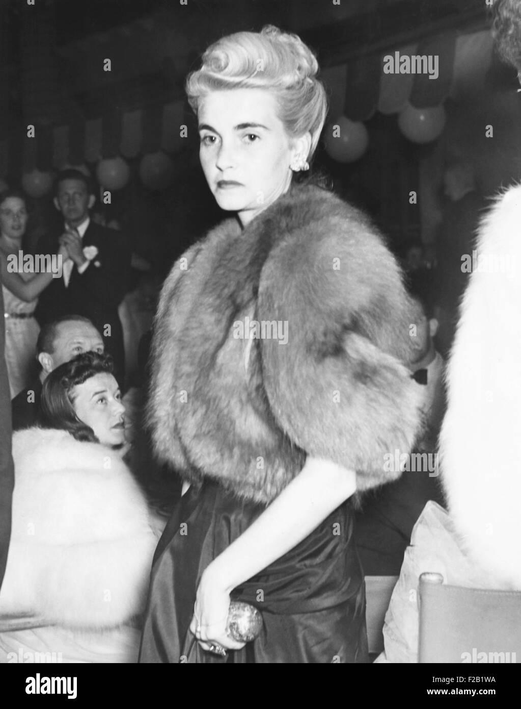 Barbara Hutton, Gräfin Von Haugwitz-Reventlow, in Palm Beach, 19. Januar 1940. Sie kam bei der Colony Club, Stockbild