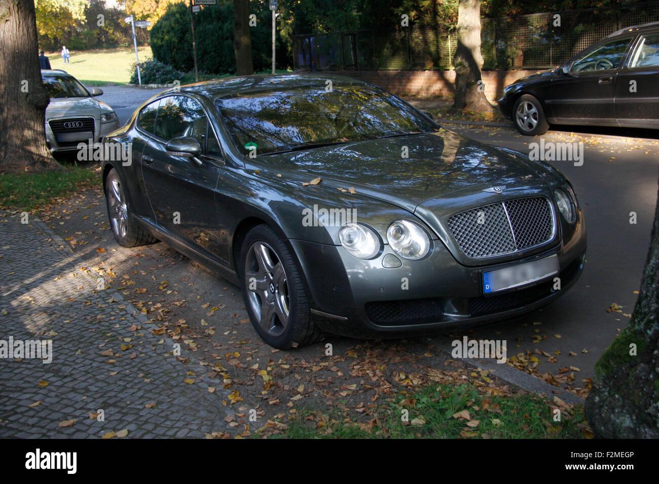 Bentley Continental GT, Berlin-Dahlem. Stockbild