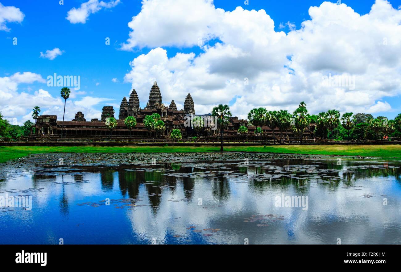 Die antiken Ruinen von Angkor Wat Stockbild