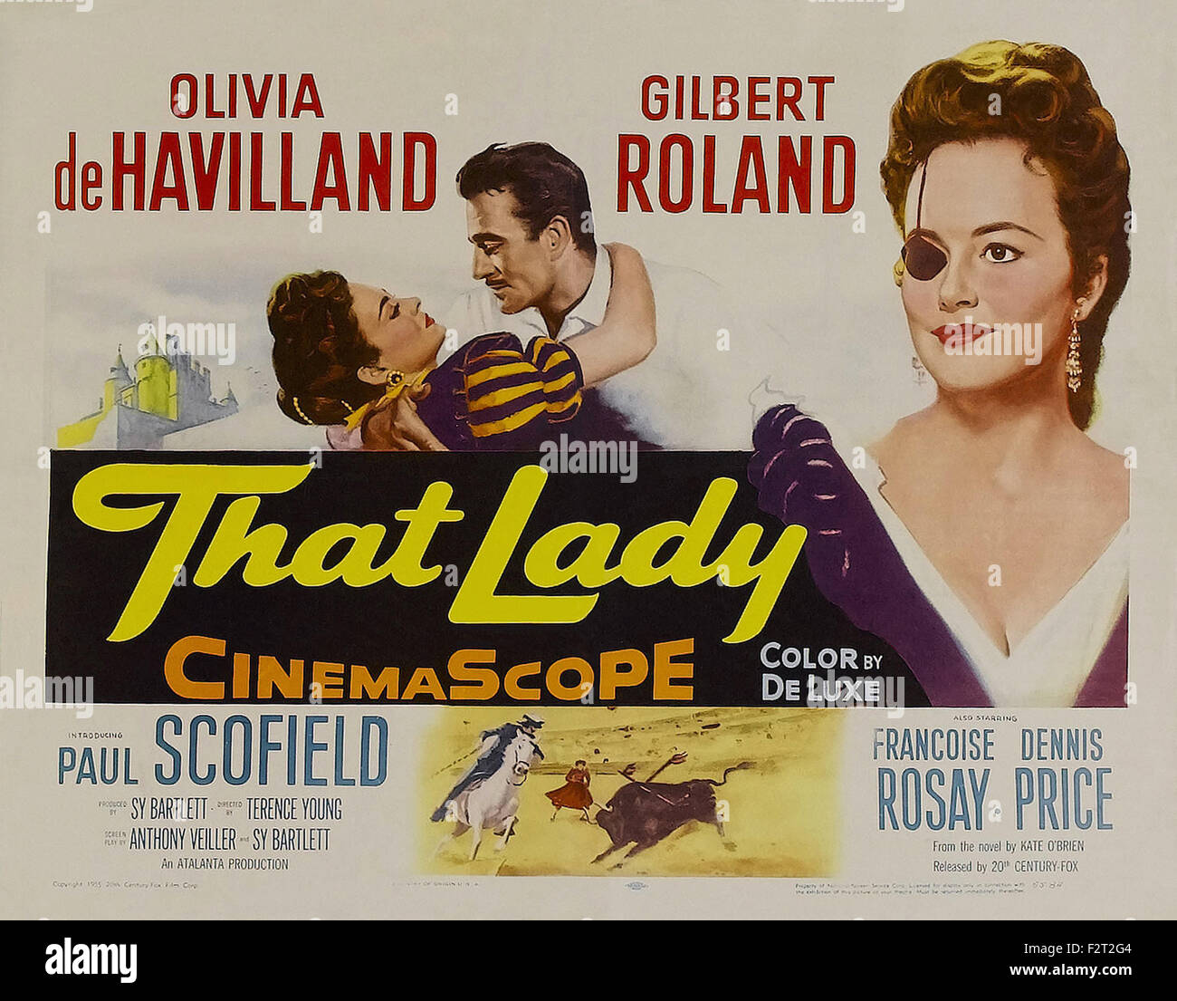 Diese Dame (1955) - Filmplakat Stockbild