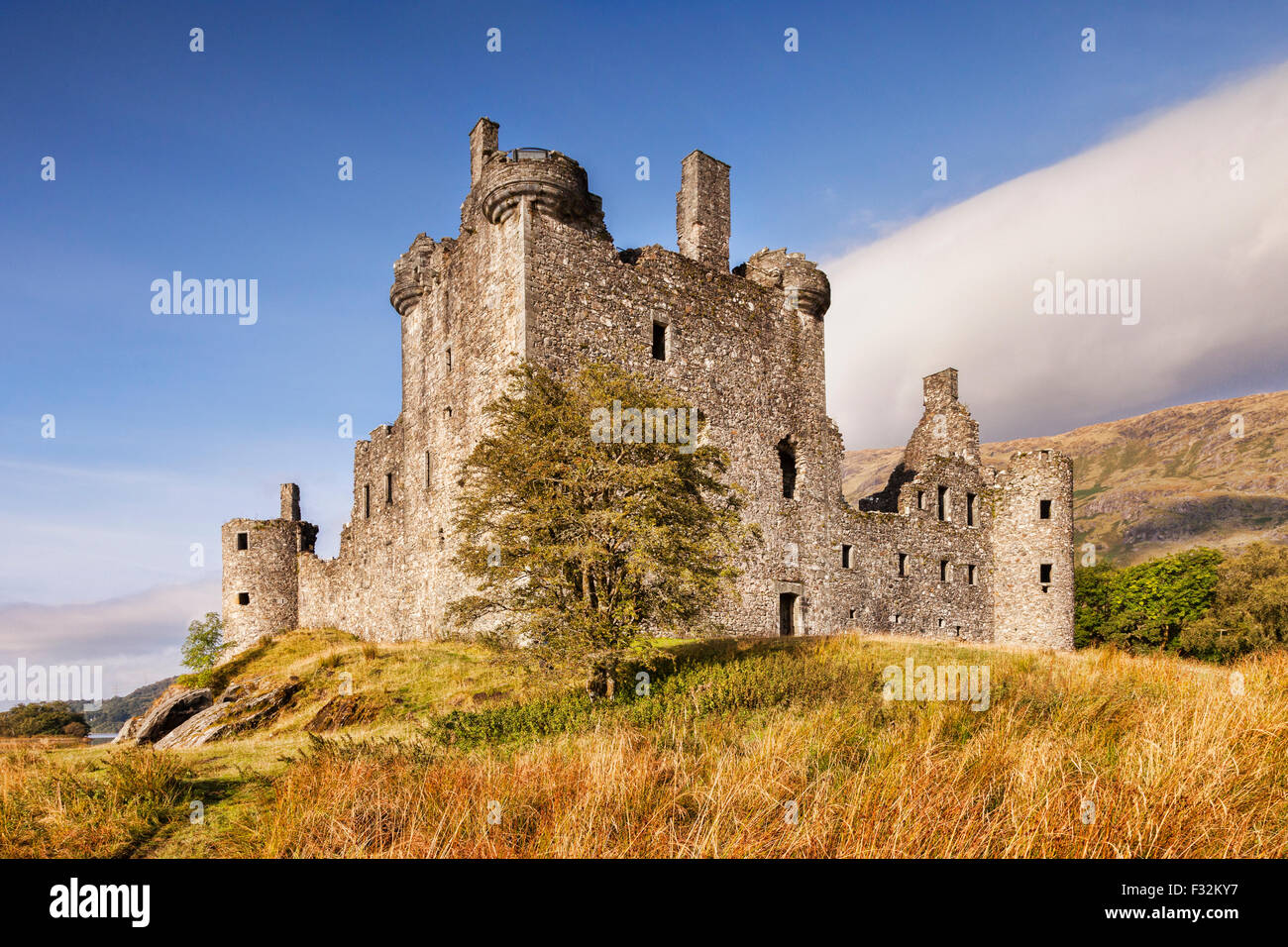 Kilchurn Castle, Loch Awe, Argyll and Bute, Scotland, UK. Stockbild